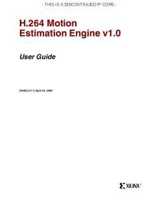 H.264 Motion Estimation Engine v1.0
