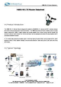 H685t 4G LTE Router Datasheet