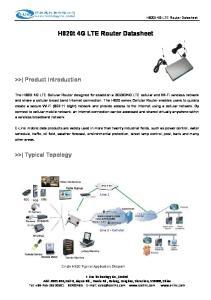 H820t 4G LTE Router Datasheet
