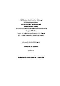 haben am 23. Oktober 2006 folgende Festbeträge für Hörhilfen beschlossen