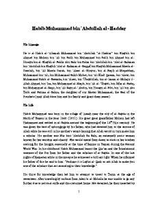 Habib Muhammad bin `Abdullah al-haddar