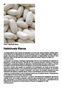 Habichuela Blanca. Cultivo Habichuela Blanca