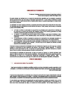 HABILIDADES DE PENSAMIENTO