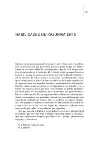 HABILIDADES DE RAZONAMIENTO