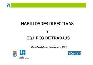 HABILIDADES DIRECTIVAS Y EQUIPOS DE TRABAJO