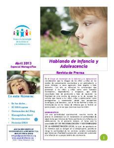 Hablando de Infancia y Adolescencia