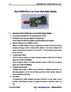 HAC-UM96 Ultra Low PowerData Radio Module