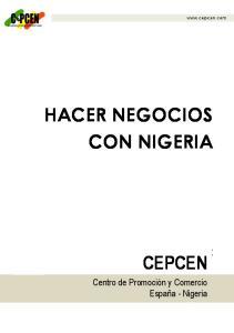 HACER NEGOCIOS CON NIGERIA