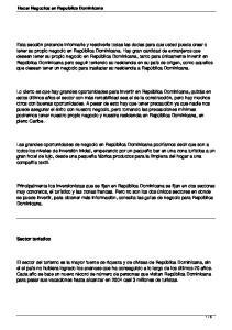 Hacer Negocios en Republica Dominicana