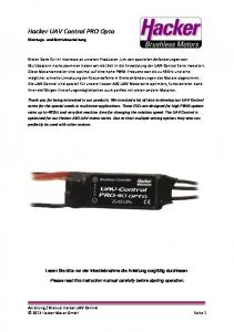 Hacker UAV Control PRO Opto