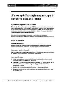 Haemophilus influenzae type b invasive disease (Hib)