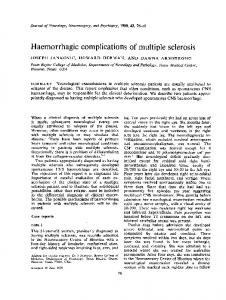 Haemorrhagic complications of multiple sclerosis