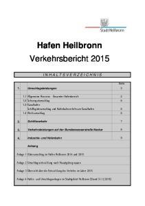 Hafen Heilbronn Verkehrsbericht 2015