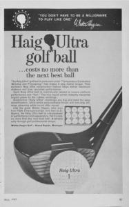 Haig^Ultra golf ball. ...costs no more than the next best ball