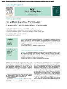 Hair and Scalp Evaluation: The Trichogram