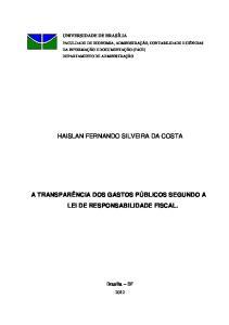 HAISLAN FERNANDO SILVEIRA DA COSTA