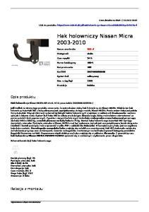 Hak holowniczy Nissan Micra
