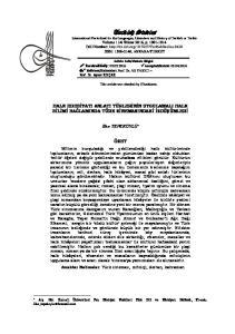 Hakemler: Prof. Dr. Ali YAKICI Prof. Dr