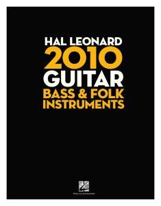 HAL LEONARD. guitar. bass & folk. instruments