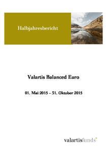 Halbjahresbericht. Valartis Balanced Euro