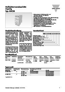 Halbleiterwendeschütz 3-polig Typ REC2R