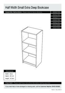 Half Width Small Extra Deep Bookcase