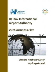 Halifax International Airport Authority Business Plan