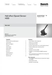 Hall-effect Speed Sensor HDD