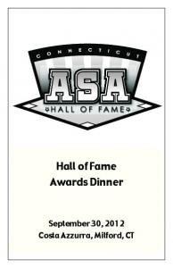 Hall of Fame Awards Dinner