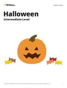 Halloween. Intermediate Level. Holidays & Events