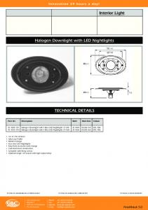 Halogen Downlight with LED Nightlights TECHNICAL DETAILS