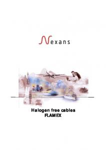 Halogen free cables FLAMEX
