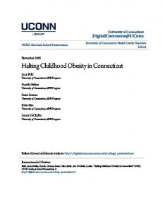 Halting Childhood Obesity in Connecticut