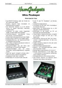 HamGadgets Ultra PicoKeyer Firmware V2.0. Ultra Picokeyer. Morse Speicher Taste
