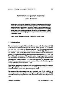 Hamiltonian and quantum mechanics