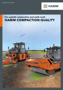 HAMM COMPACTION QUALITY