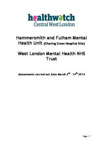 Hammersmith and Fulham Mental Health Unit (Charing Cross Hospital Site) West London Mental Health NHS Trust