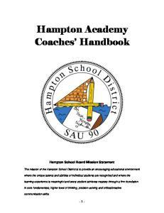 Hampton Academy Coaches Handbook