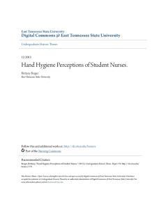 Hand Hygiene Perceptions of Student Nurses