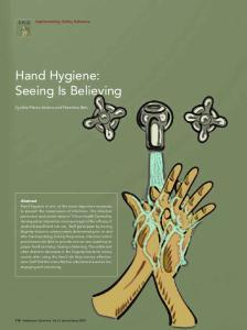 Hand Hygiene: Seeing Is Believing