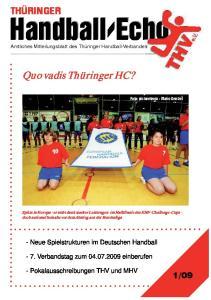 Handball-Echo. Handball-Echo