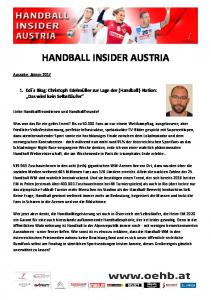 HANDBALL INSIDER AUSTRIA