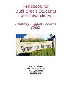 Handbook for Dual Credit Students with Disabilities