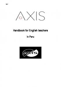 Handbook for English teachers. In Peru