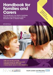 Handbook for Families and Carers