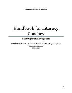 Handbook for Literacy Coaches