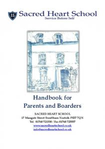 Handbook for Parents and Boarders