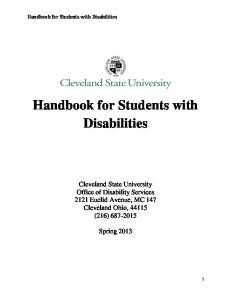 Handbook for Students with Disabilities