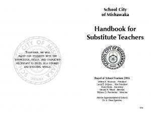 Handbook for Substitute Teachers