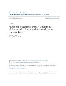 Handbook of Nebraska Trees: A Guide to the Native and Most Important Introduced Species (Revised 1951)